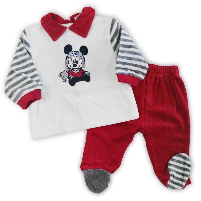 vendita a basso prezzo 100% qualità migliore online Tutina neonato in ciniglia con Topolino